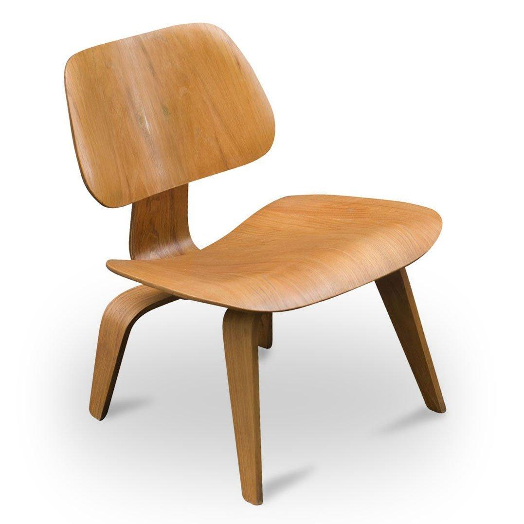 Vintage lcw eichen stuhl von charles ray eames f r for Design stuhl charles eames