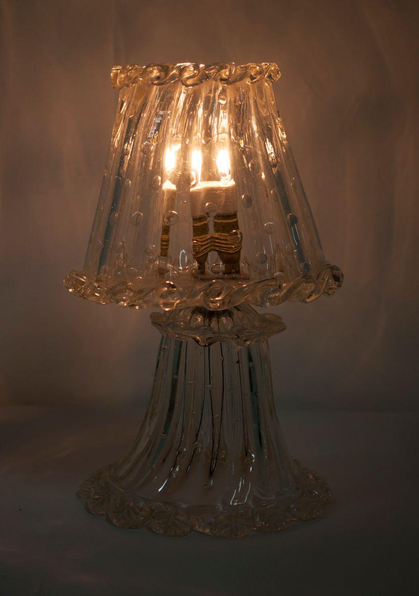 Lampada da tavolo vintage di ercole barovier per barovier toso anni 39 40 in vendita su pamono - Lampada da tavolo vintage ...