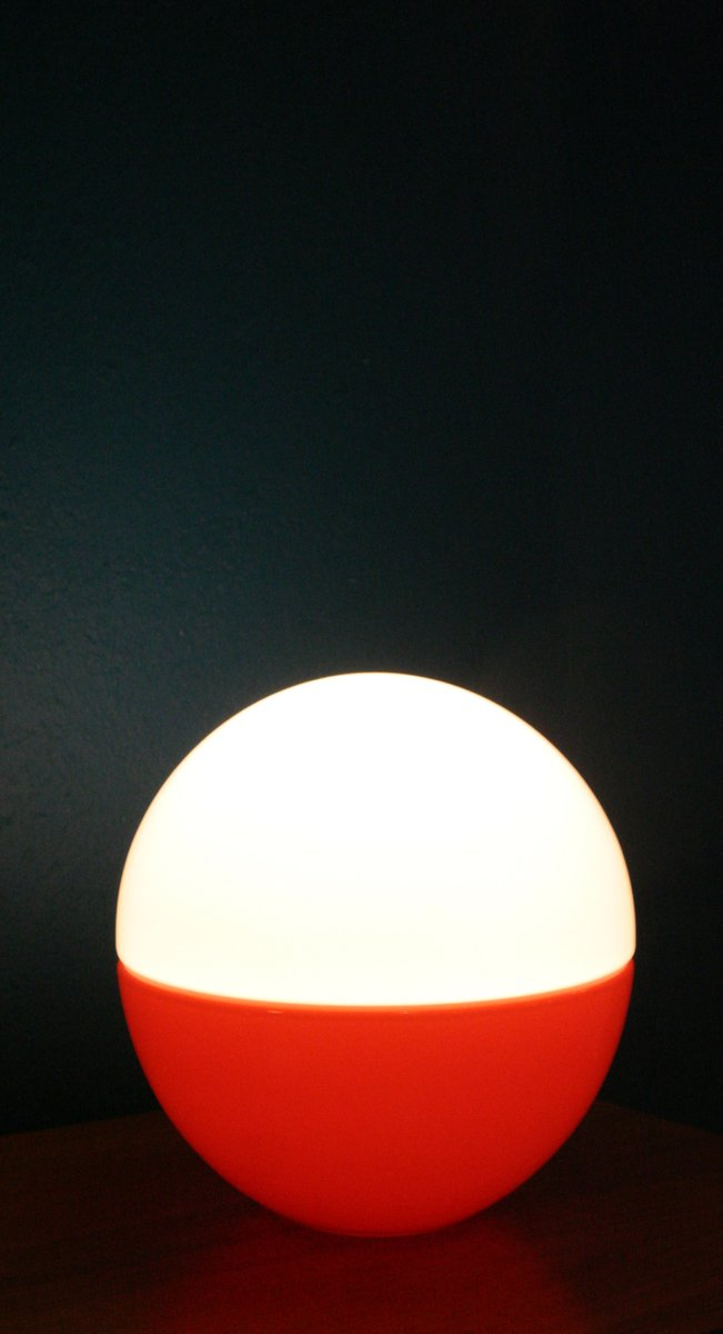 Glass Sphere Table Lamp, 1960s