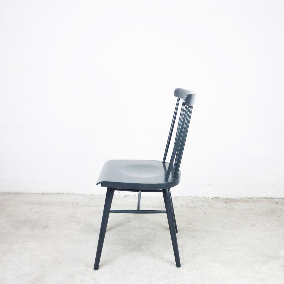 vintage pinnstolar st hle in anthrazit 3er set bei pamono. Black Bedroom Furniture Sets. Home Design Ideas