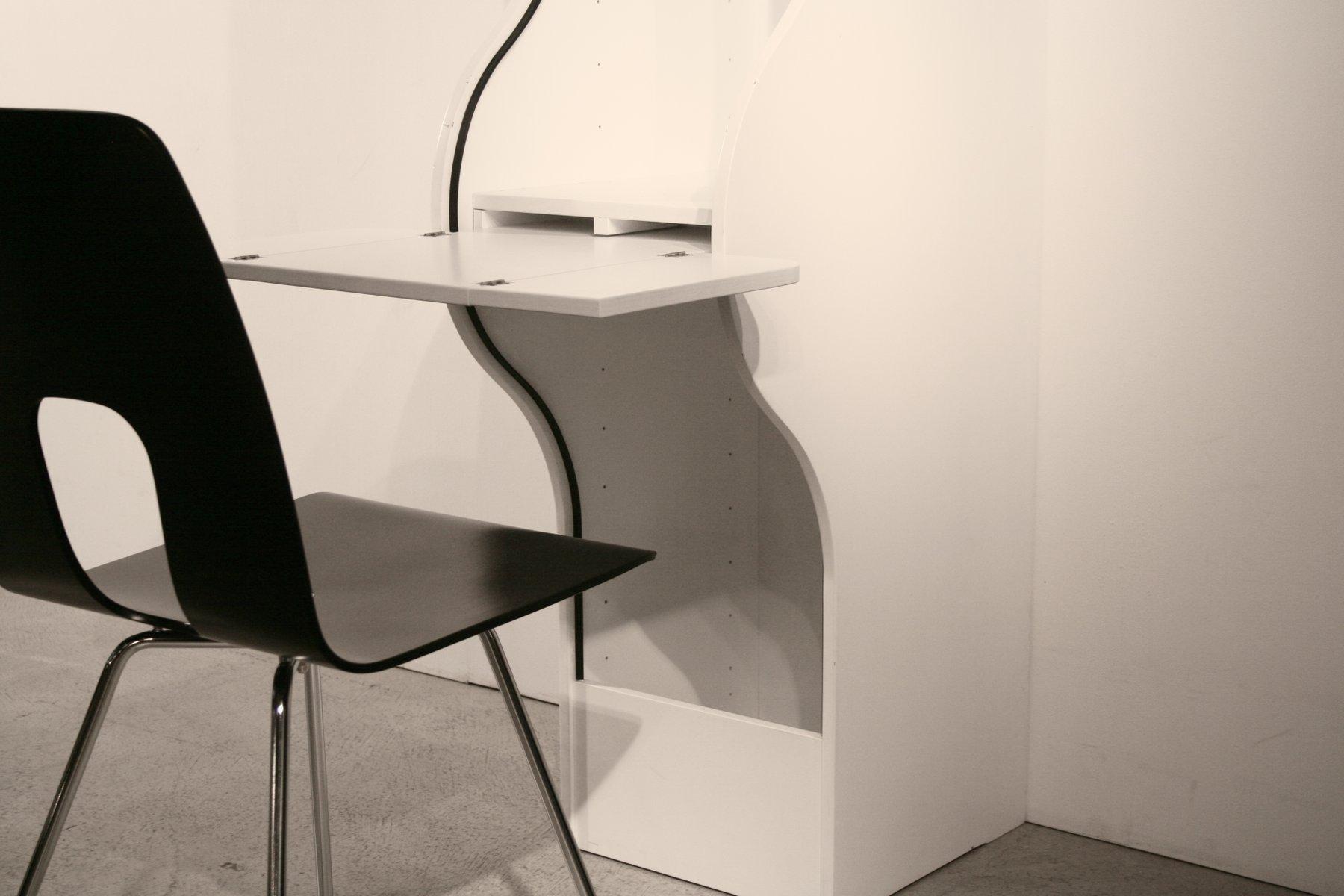 swiss roller shutter secretary by klaus vogt for thut m bel 1960s for sale at pamono. Black Bedroom Furniture Sets. Home Design Ideas