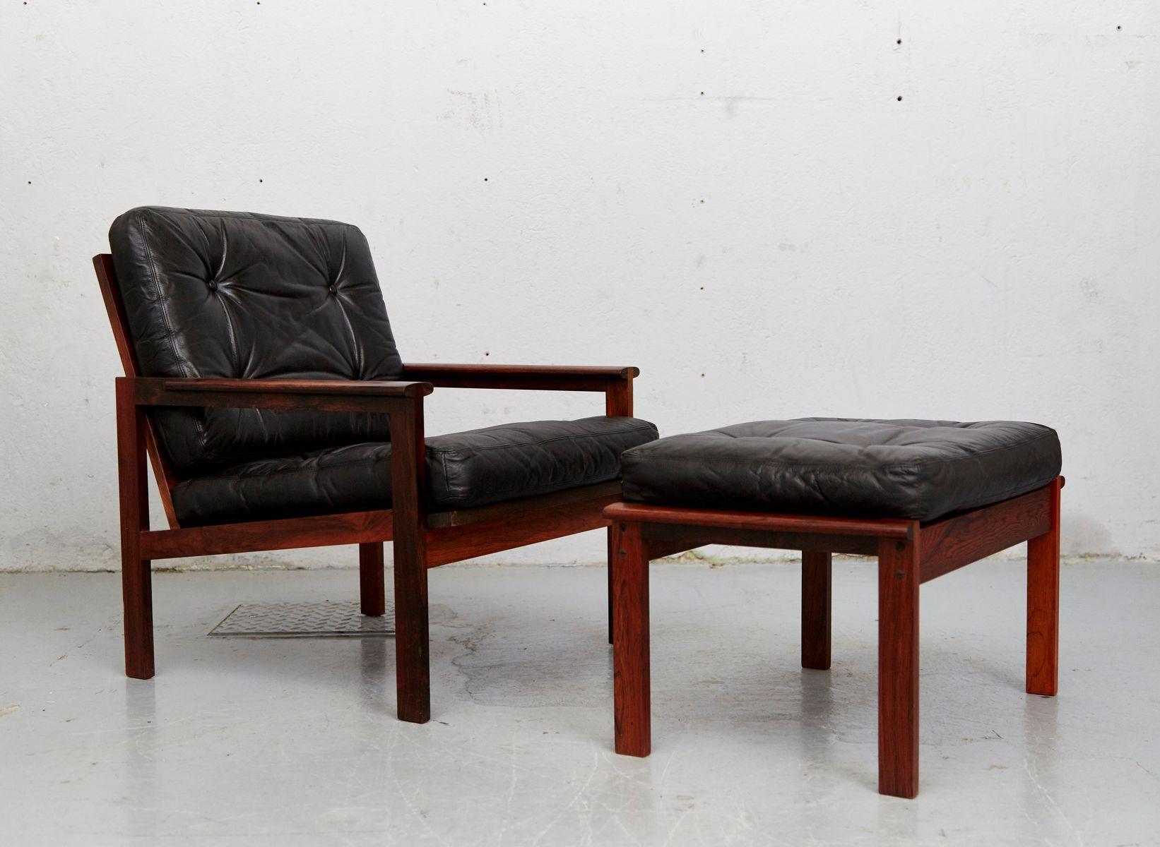 Model Capella Easy Chair U0026 Ottoman Set By Illum Wikkelsø For Niels  Eilersen, 1960s