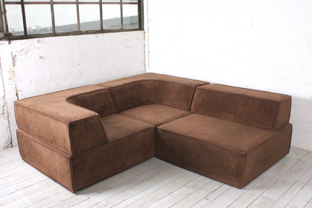 modulares dreiteiliges vintage sofa von cor 1970er bei. Black Bedroom Furniture Sets. Home Design Ideas