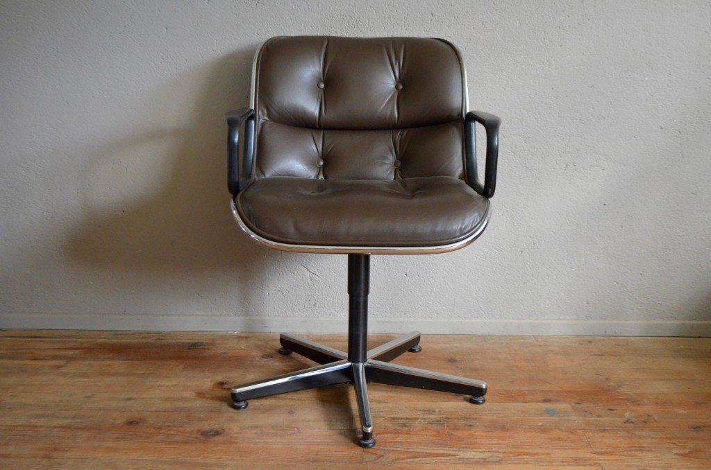 Vintage Office Chair By Charles Pollock For Knoll For Sale
