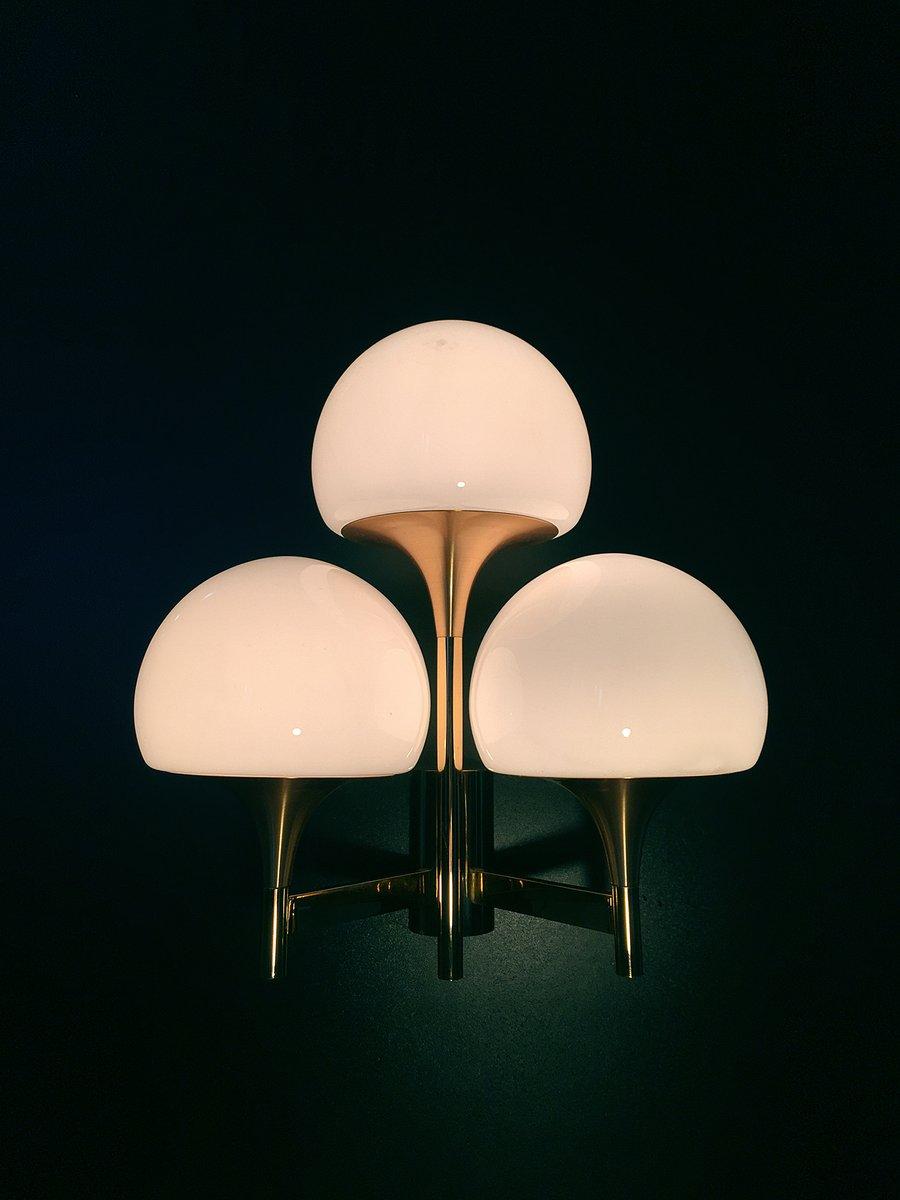 golden triple wall light by gaetano sciolari 1970s en vente sur pamono. Black Bedroom Furniture Sets. Home Design Ideas