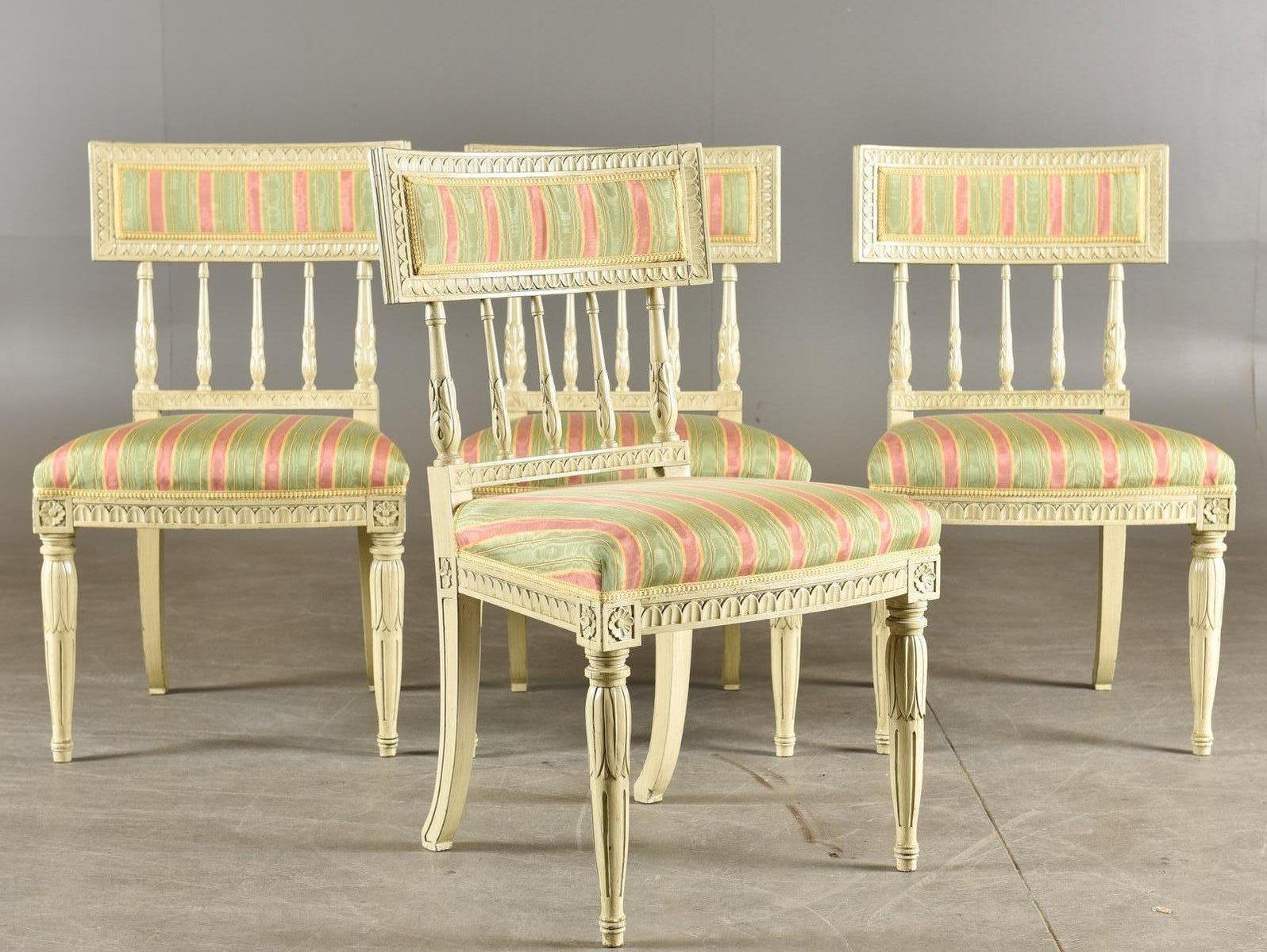 antike sengustavianische st hle 4er set bei pamono kaufen On stühle 4er set