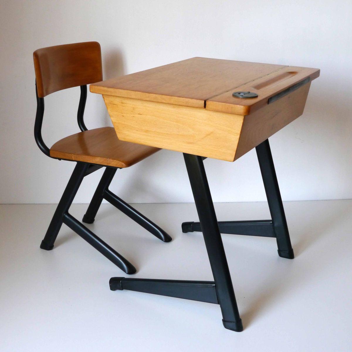 vintage kinder schreibtisch bei pamono kaufen. Black Bedroom Furniture Sets. Home Design Ideas