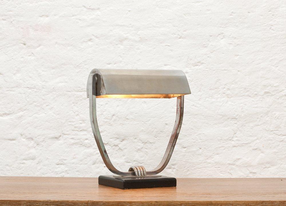 tischlampe von jacques adnet 1930er bei pamono kaufen. Black Bedroom Furniture Sets. Home Design Ideas