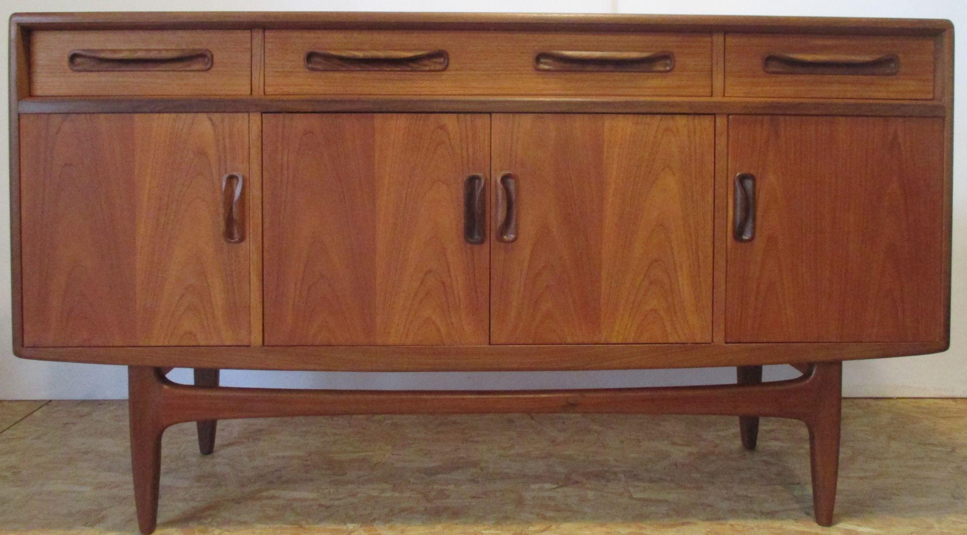 kleines vintage teak sideboard von g plan 1970er bei. Black Bedroom Furniture Sets. Home Design Ideas