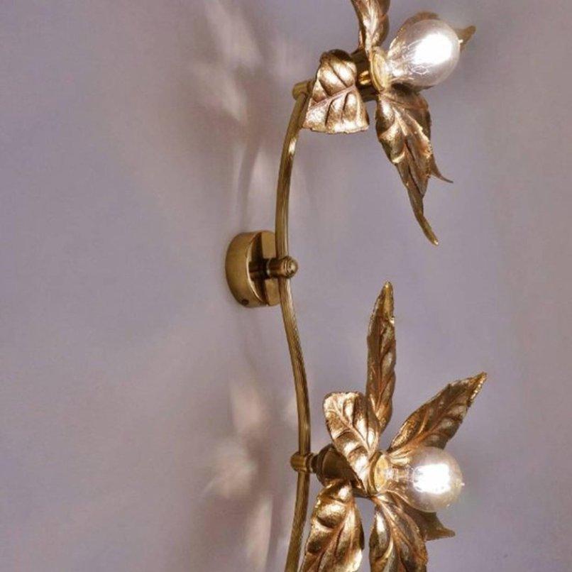 vintage blumen lampen set aus messing von massive lighting. Black Bedroom Furniture Sets. Home Design Ideas