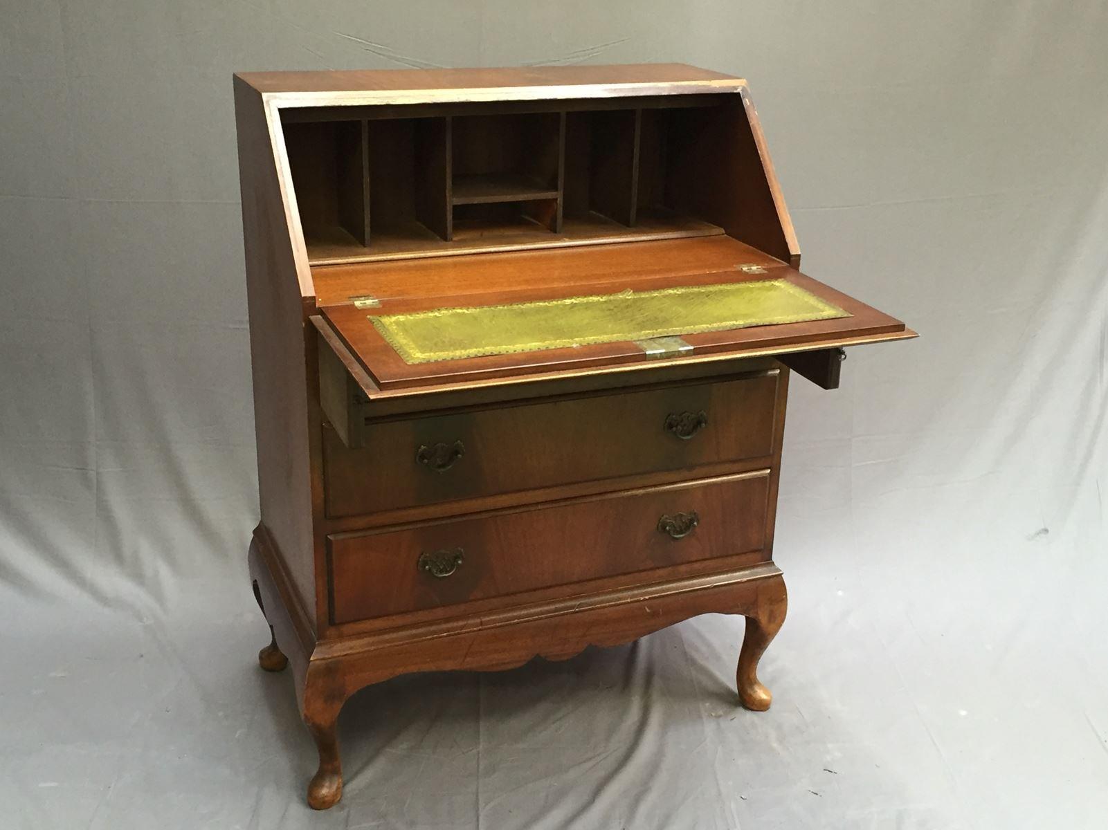 vintage english mahogany secretaire for sale at pamono. Black Bedroom Furniture Sets. Home Design Ideas