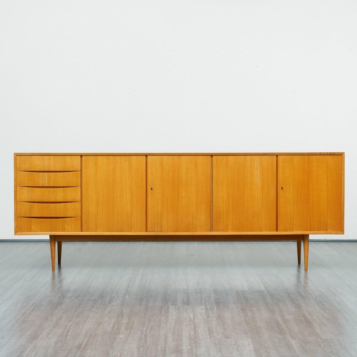 gro es sideboard aus kirschholz 1960er bei pamono kaufen. Black Bedroom Furniture Sets. Home Design Ideas