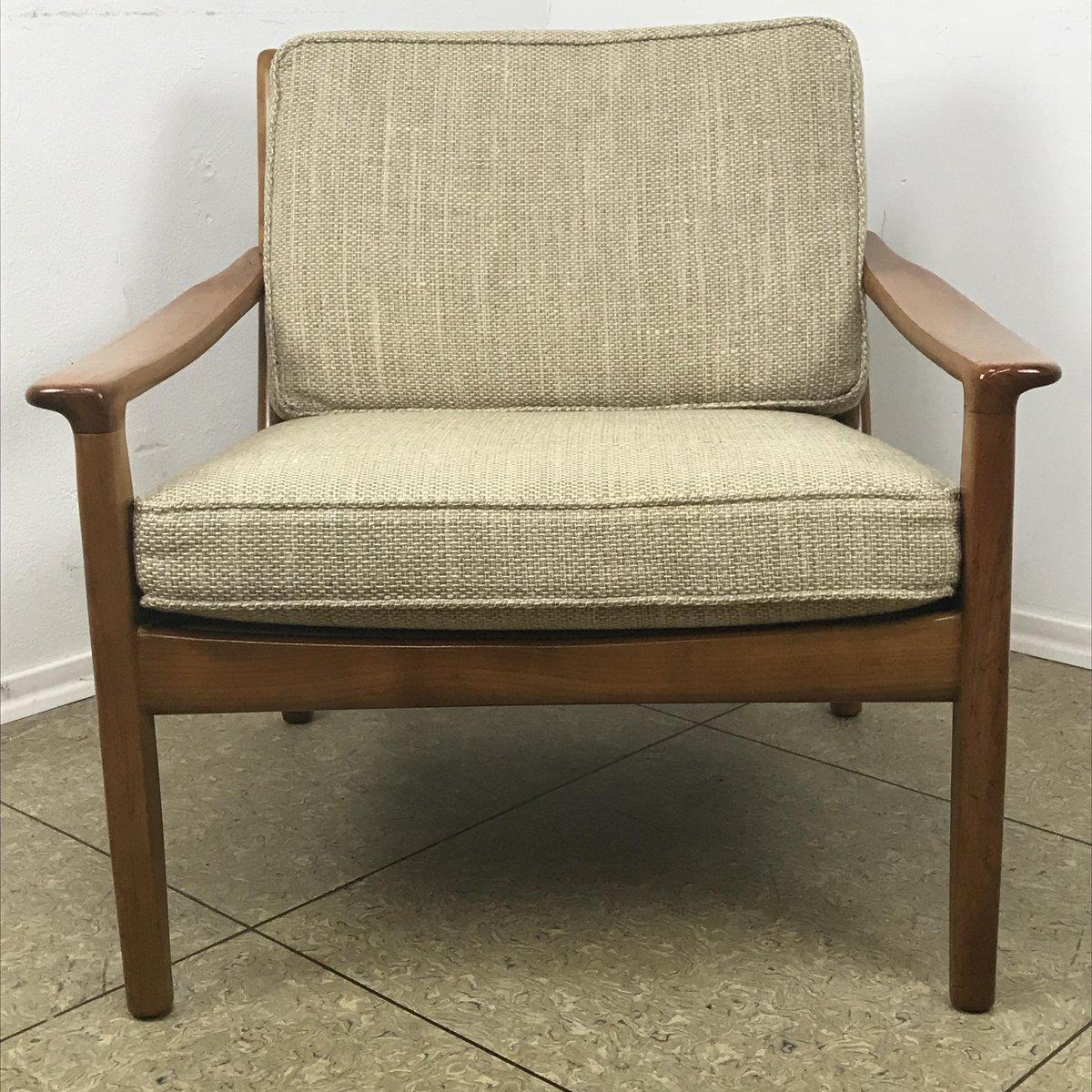 vintage sessel aus kirschholz von straub bei pamono kaufen. Black Bedroom Furniture Sets. Home Design Ideas