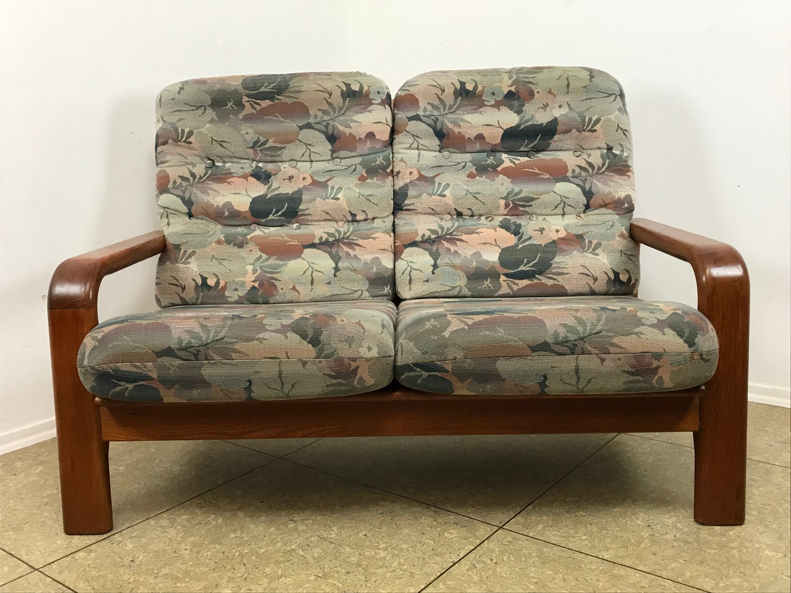 Danish Teak 2-Seater Sofa, 1970s for sale at Pamono
