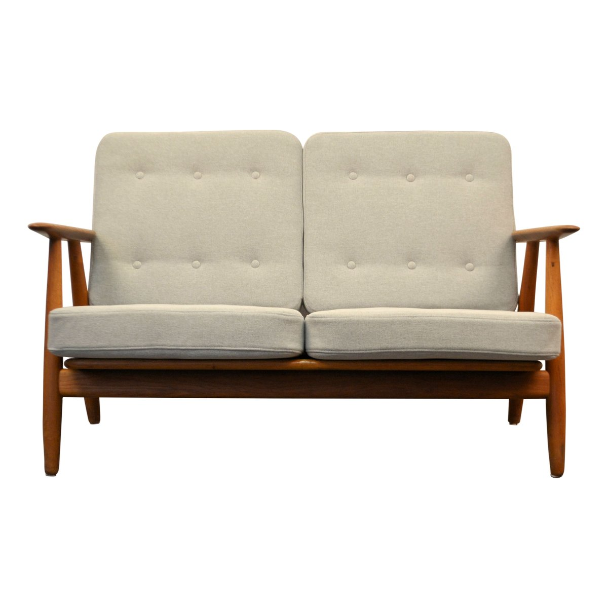 mid century cigar ge 240 oak sofa by hans j wegner for getama for sale at pamono. Black Bedroom Furniture Sets. Home Design Ideas