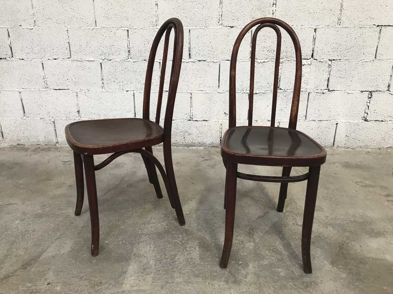 Vintage Bistro Chairs from Thonet, Set of 6 - Vintage Bistro Chairs From Thonet, Set Of 6 For Sale At Pamono