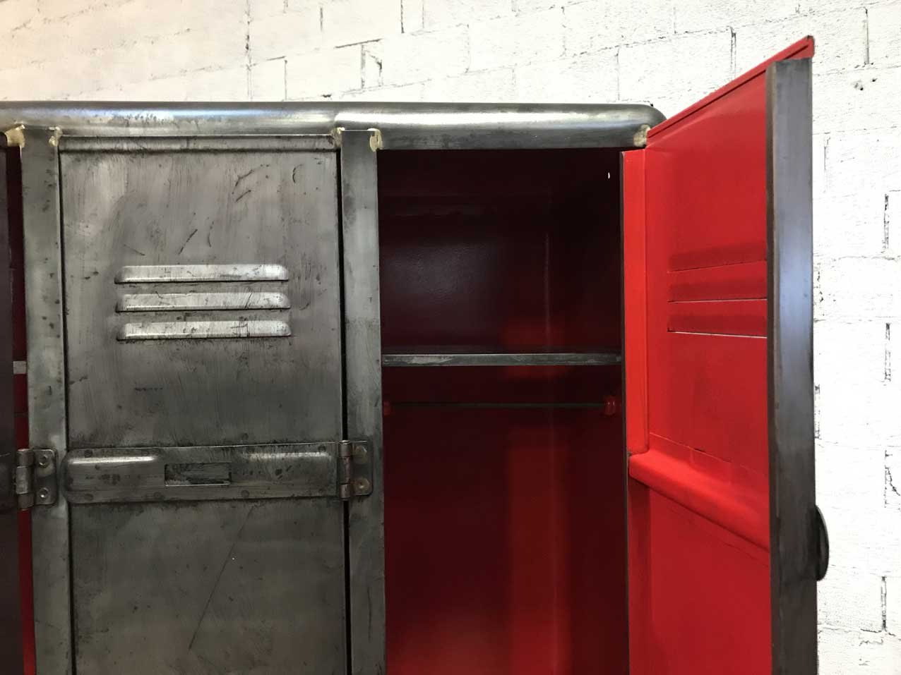 Vintage Industrial Doors : Vintage industrial locker with doors for sale at pamono
