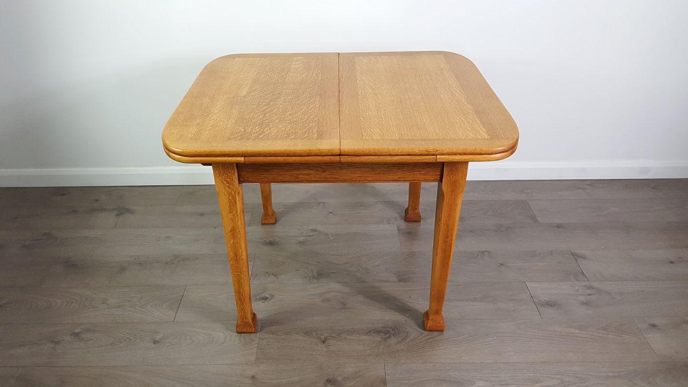 Table de salle manger art nouveau rallonge en ch ne for Salle a manger 1920