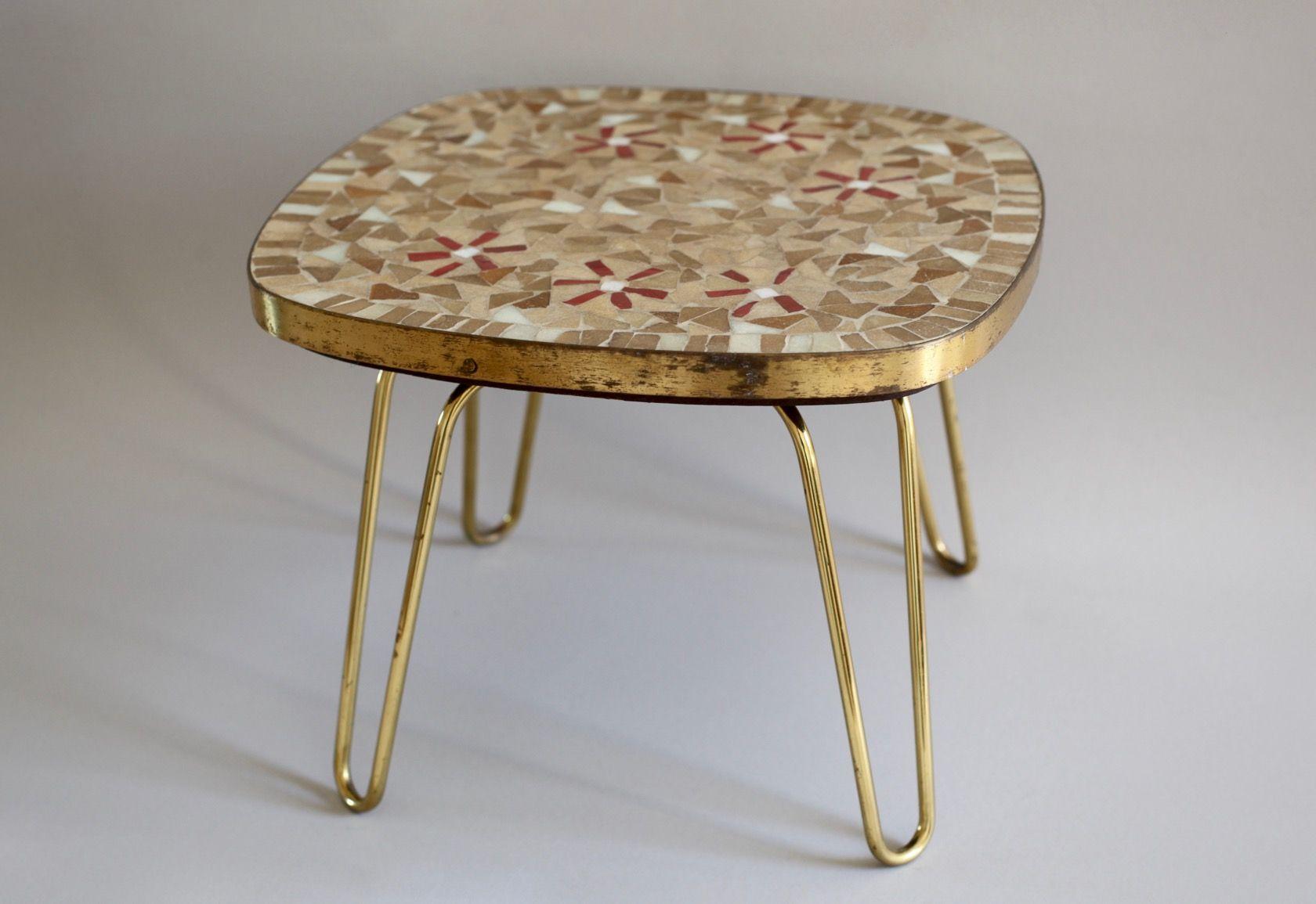 vintage mosaik hocker mit schlaufen beinen von ilse m bel bei pamono kaufen. Black Bedroom Furniture Sets. Home Design Ideas