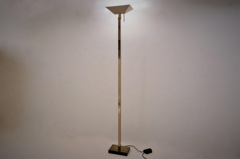 Chrome brass floor lamp from deknudt lighting 1970s for for 1970s floor lamps