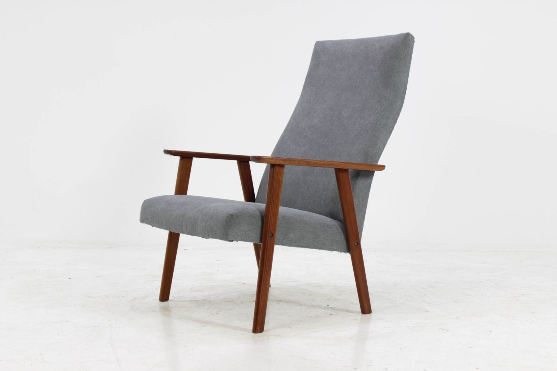 d nischer sessel aus teak mit hoher r ckenlehne 1960er. Black Bedroom Furniture Sets. Home Design Ideas