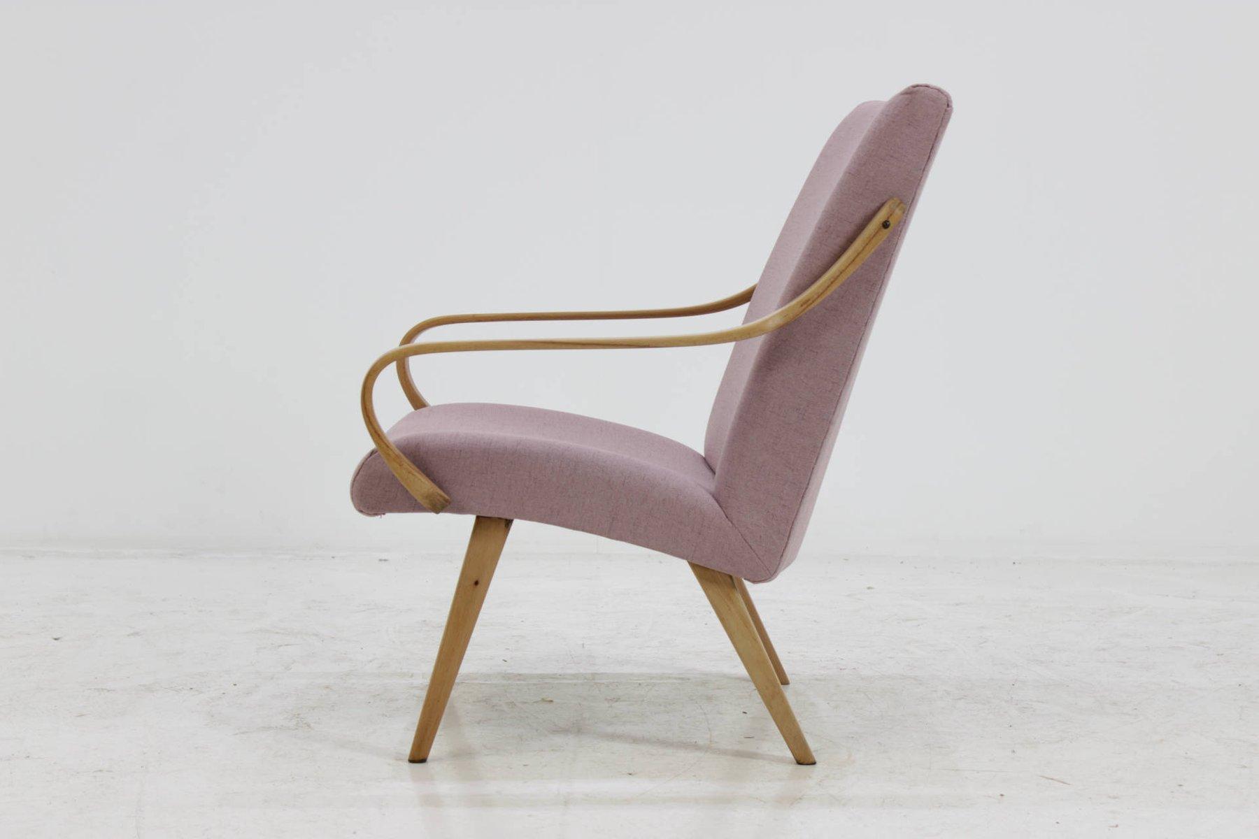 Bentwood lounge chair - Czechoslovakian Beech Bentwood Lounge Chair 1960s