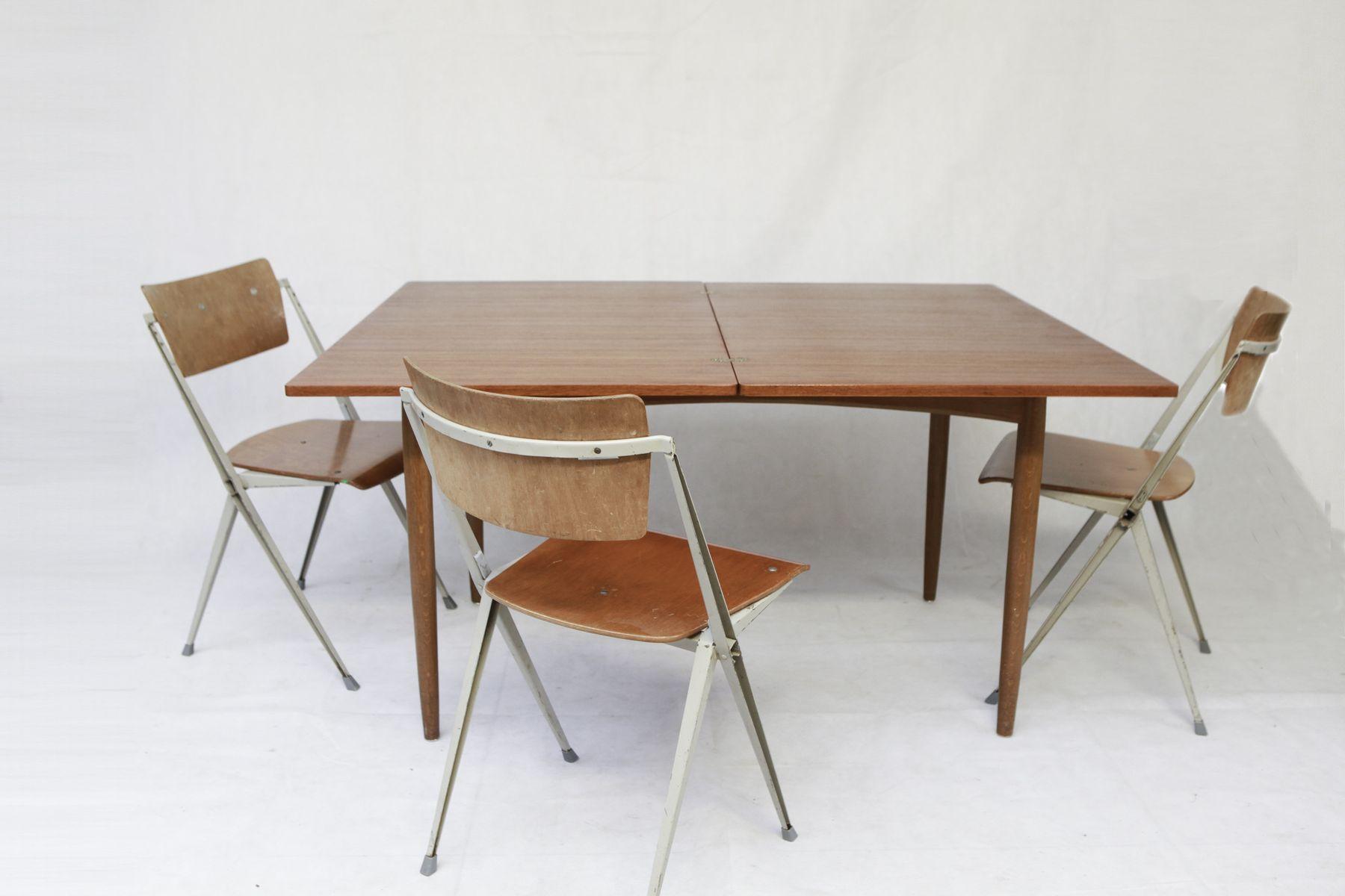 ausziehbarer skandinavischer esstisch in teak bei pamono kaufen. Black Bedroom Furniture Sets. Home Design Ideas