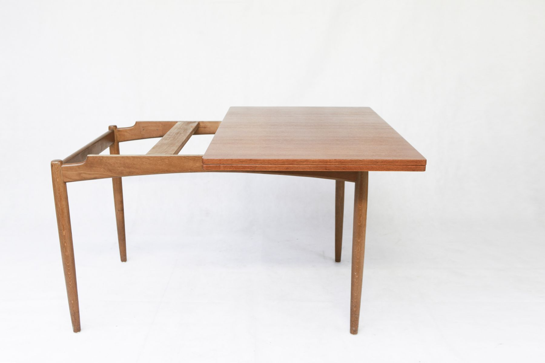 Vintage scandinavian extendable teak dining table for sale at pamono - Scandinavian style dining table ...