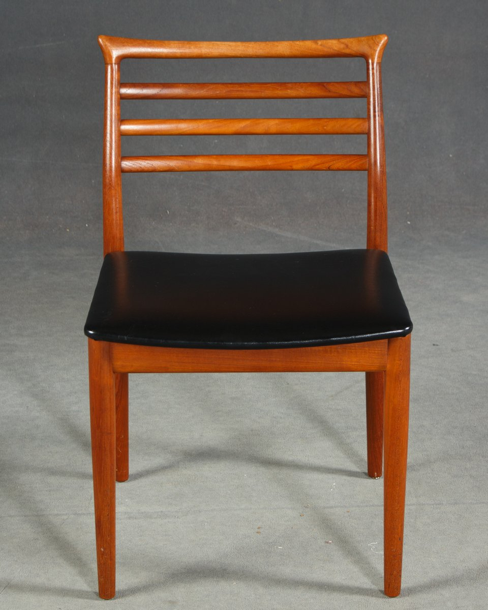 Mid Century Teak Dining Chairs By Erling Torvits For Sor