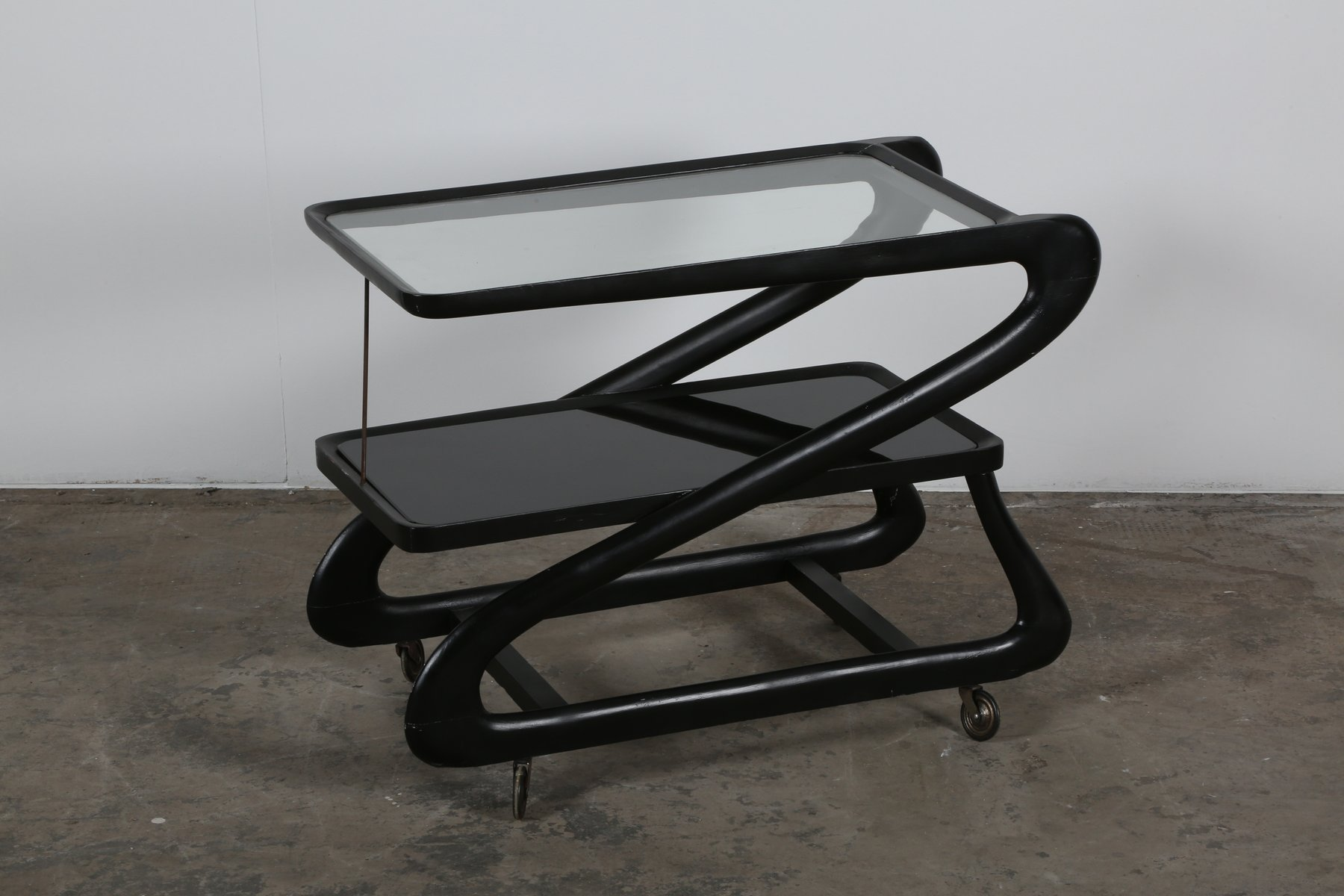 Black Cart by Cesare Lacca 1950s for sale at Pamono
