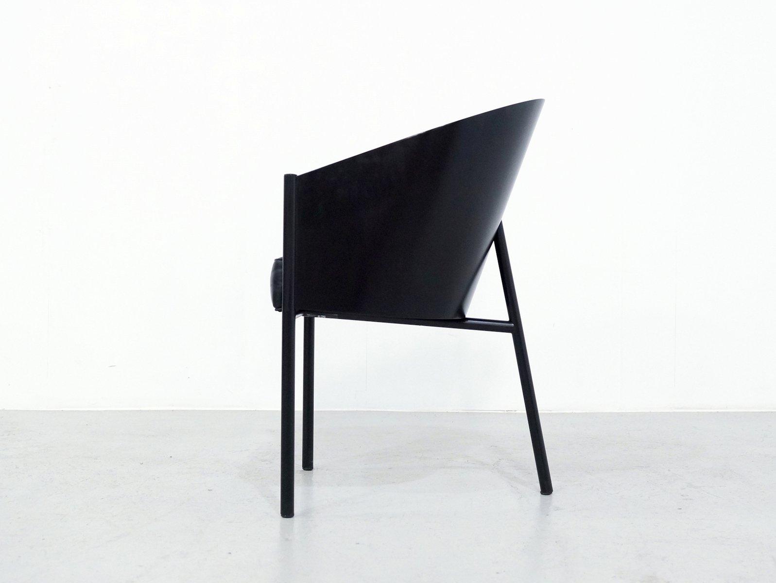 schwarze costes st hle von philippe starck f r driade 6er set bei pamono kaufen. Black Bedroom Furniture Sets. Home Design Ideas