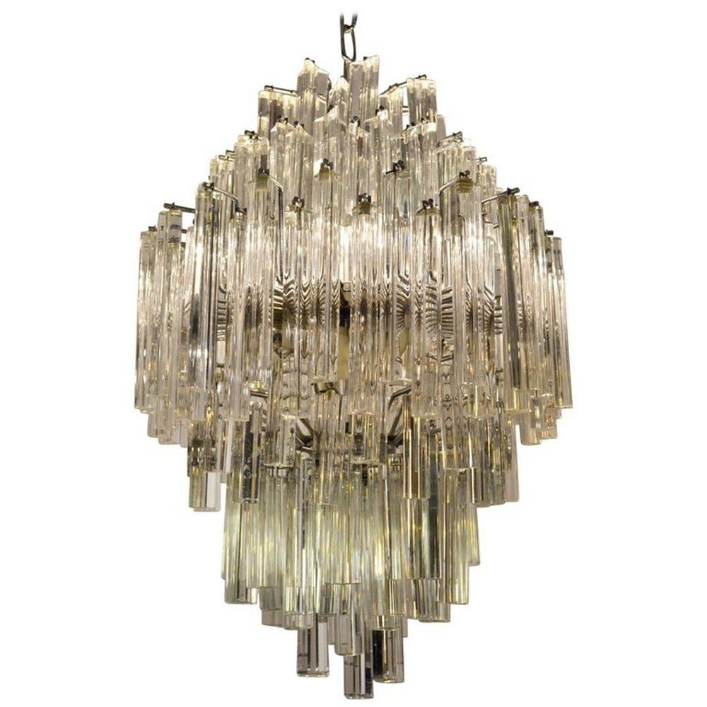 Vintage murano glass triedri chandelier from venini for sale at pamono 350000 arubaitofo Images