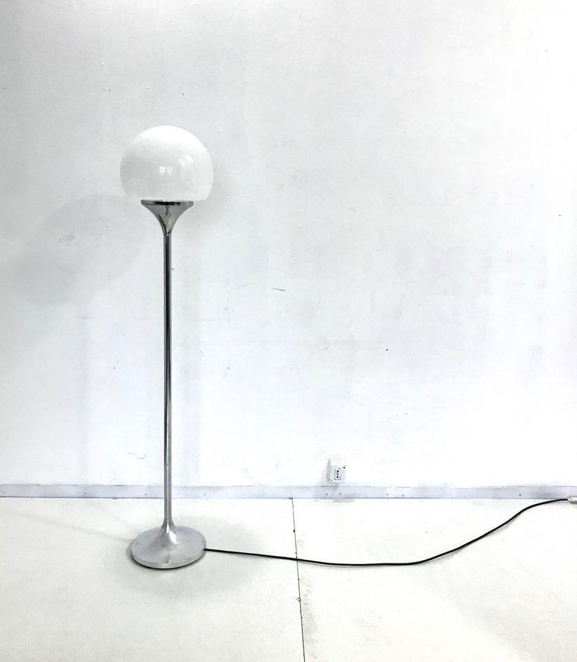 Italian chrome floor lamp from reggiani 1970s for sale at for Reggiani chrome floor lamp