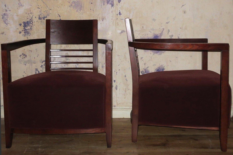 vintage sessel mit breiter sitzfl che und samtbezug bei. Black Bedroom Furniture Sets. Home Design Ideas