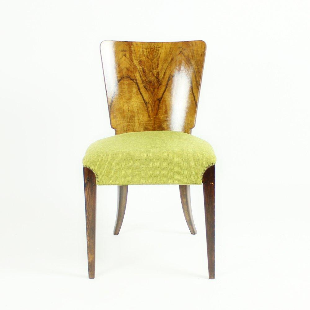Walnut Veneered H214 Dining Chairs by Jindrich Halabala  : walnut veneered h214 dining chairs by jindrich halabala for up zavody 1920s set of 4 7 from www.pamono.com size 1000 x 1000 jpeg 41kB