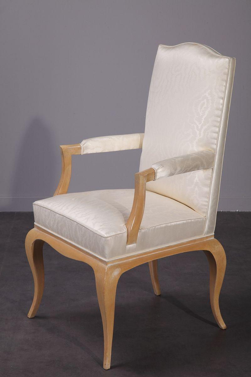 esstisch vier st hle zwei armlehnst hle 1950er bei pamono kaufen. Black Bedroom Furniture Sets. Home Design Ideas