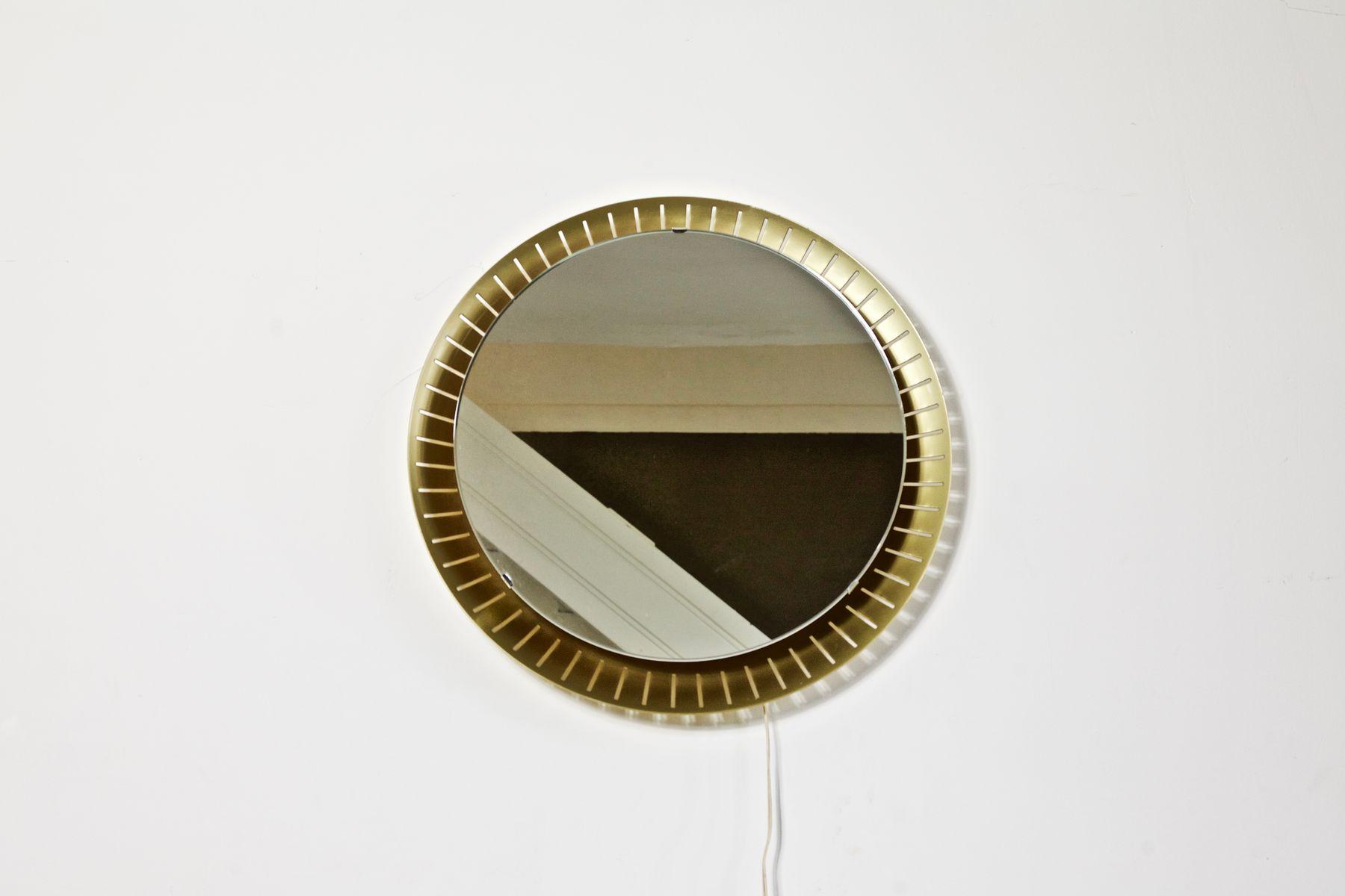 Miroir mural avec eclairage de stilnovo 1960s en vente for Miroir avec eclairage