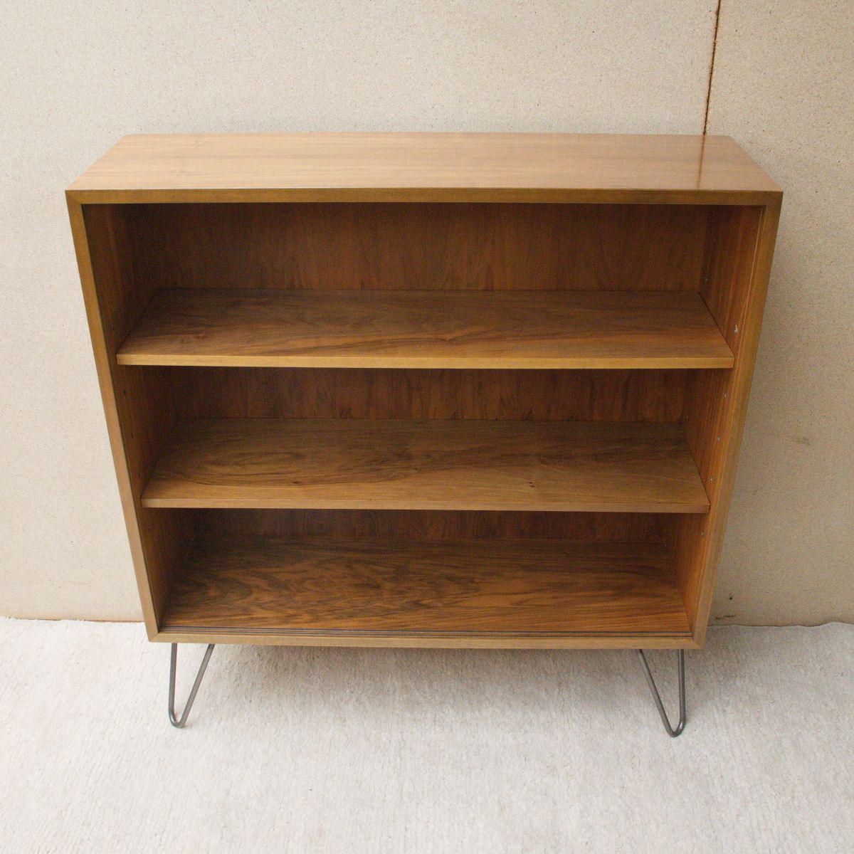 vintage bookshelf in walnut by georg satink for wk m bel. Black Bedroom Furniture Sets. Home Design Ideas