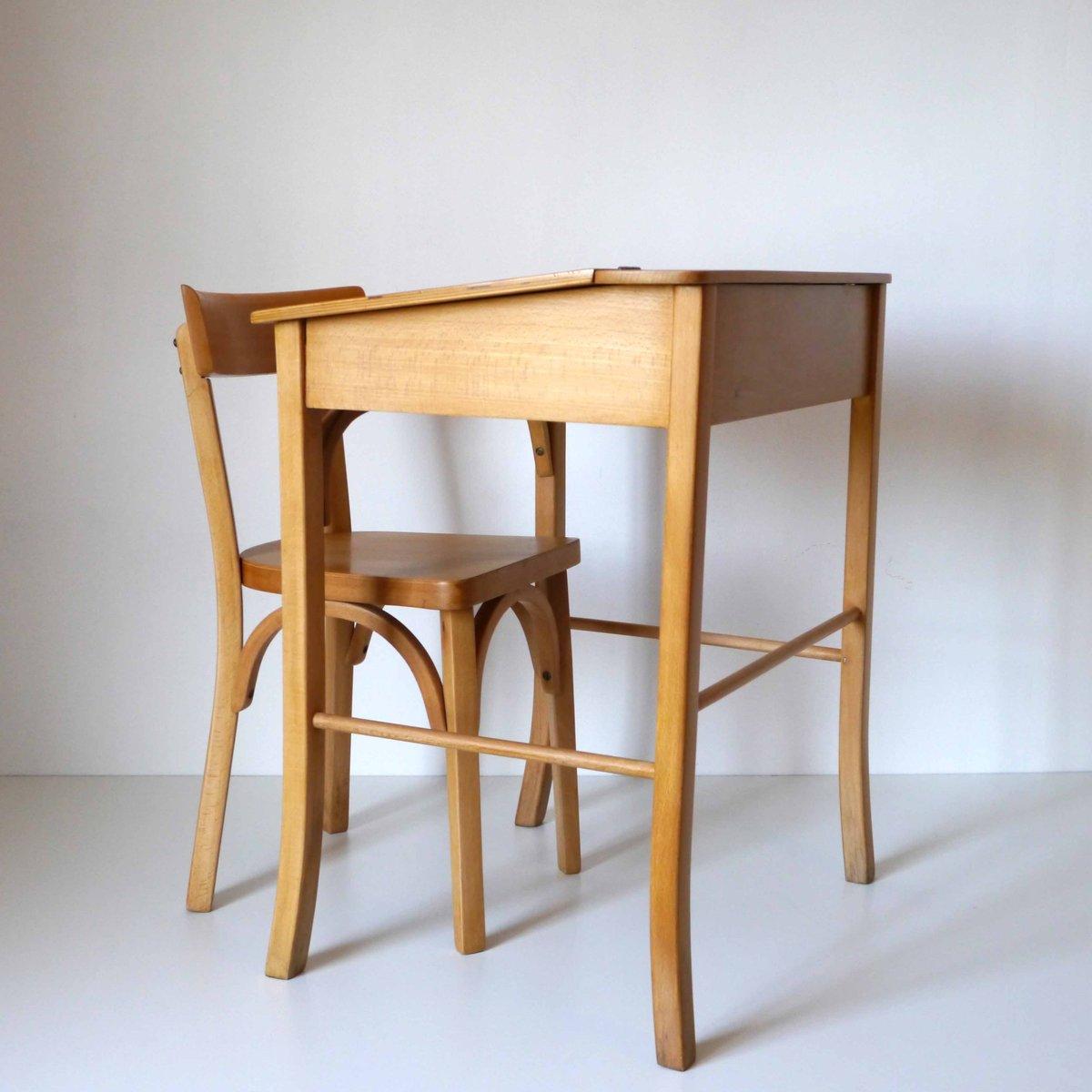 kinder schreibtisch und stuhl von baumann 1960er bei. Black Bedroom Furniture Sets. Home Design Ideas