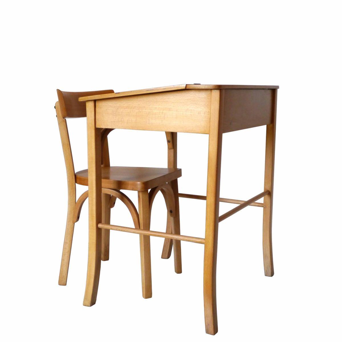 kinder schreibtisch und stuhl von baumann 1960er bei pamono kaufen