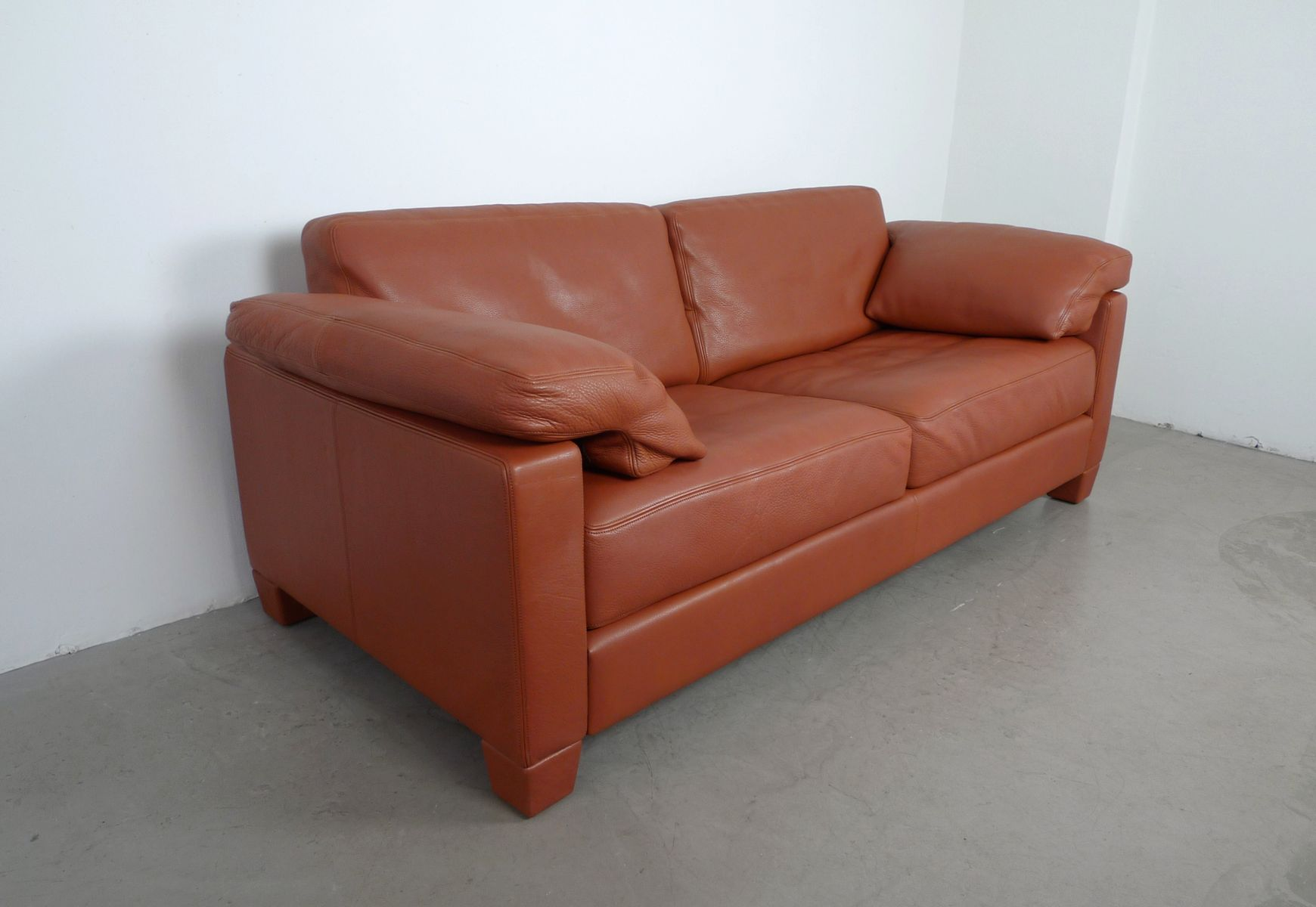 cognac leder ds 17 sofa von de sede 1990er bei pamono kaufen. Black Bedroom Furniture Sets. Home Design Ideas