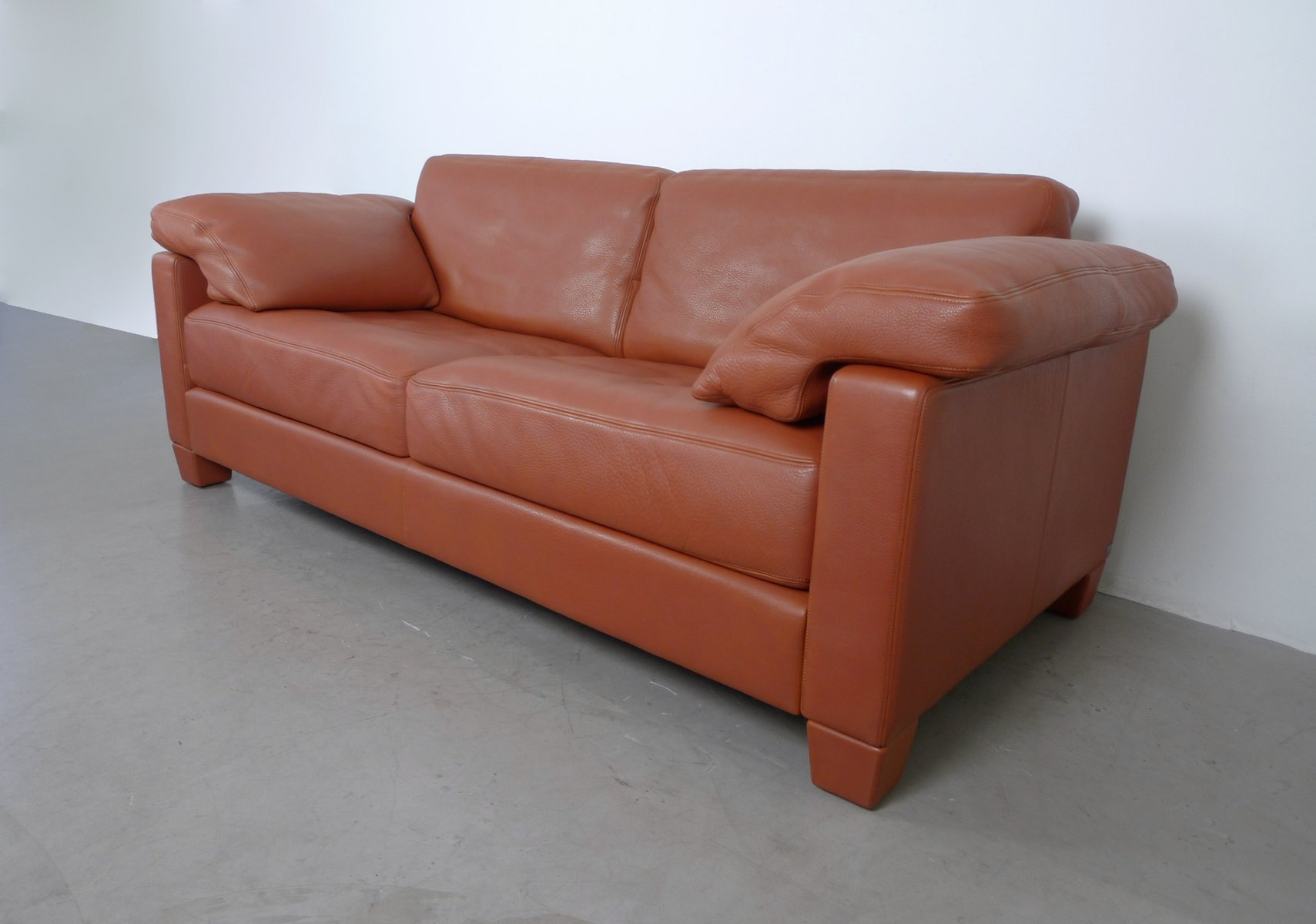 cognac leather ds 17 sofa from de sede 1990s for sale at pamono. Black Bedroom Furniture Sets. Home Design Ideas
