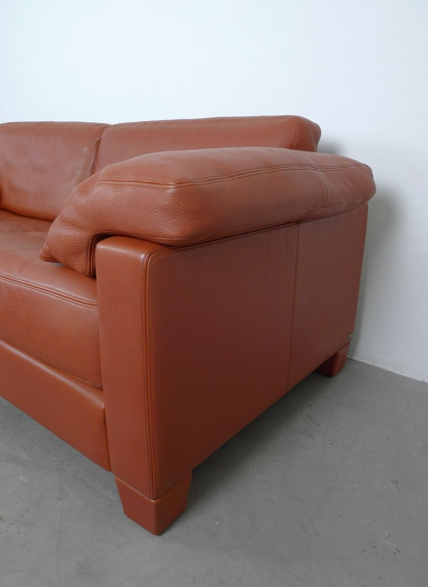 cognac leder ds 17 sofa von de sede 1990er bei pamono kaufen. Black Bedroom Furniture Sets. Home Design Ideas