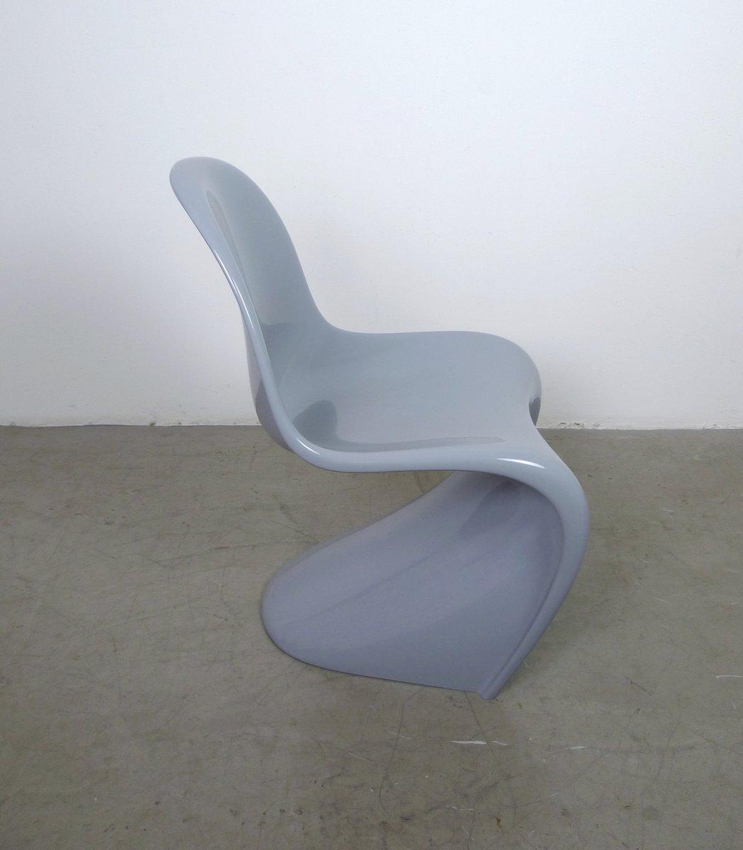 grauer panton chair classic von verner panton f r vitra 1998 bei pamono kaufen. Black Bedroom Furniture Sets. Home Design Ideas