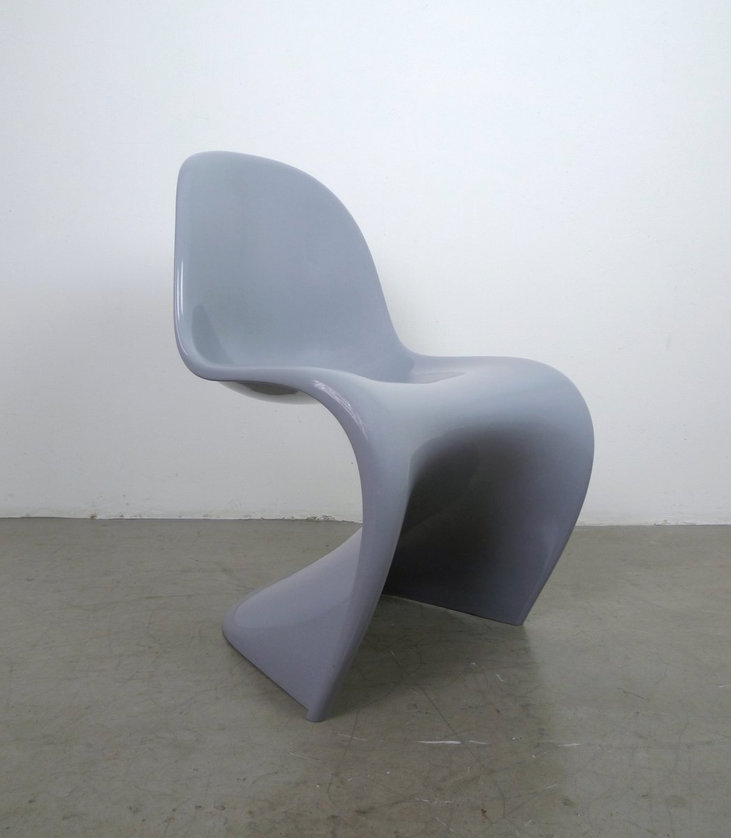 grey panton chair classic by verner panton for vitra 1998 for sale at pamono. Black Bedroom Furniture Sets. Home Design Ideas