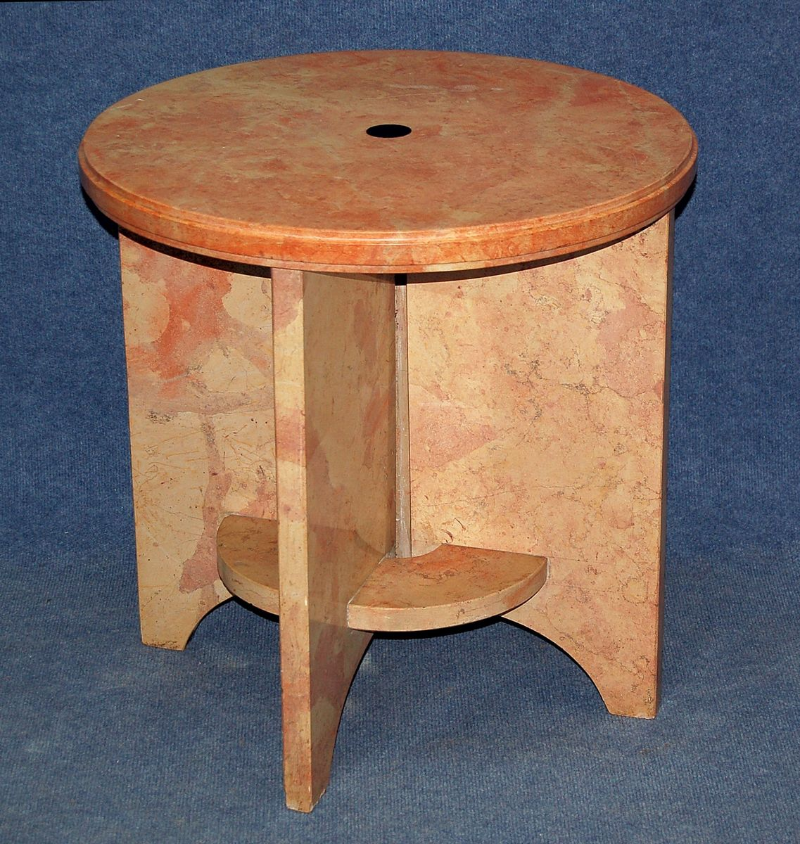 Vintage pedestal side table for sale at pamono for Pedestal side table
