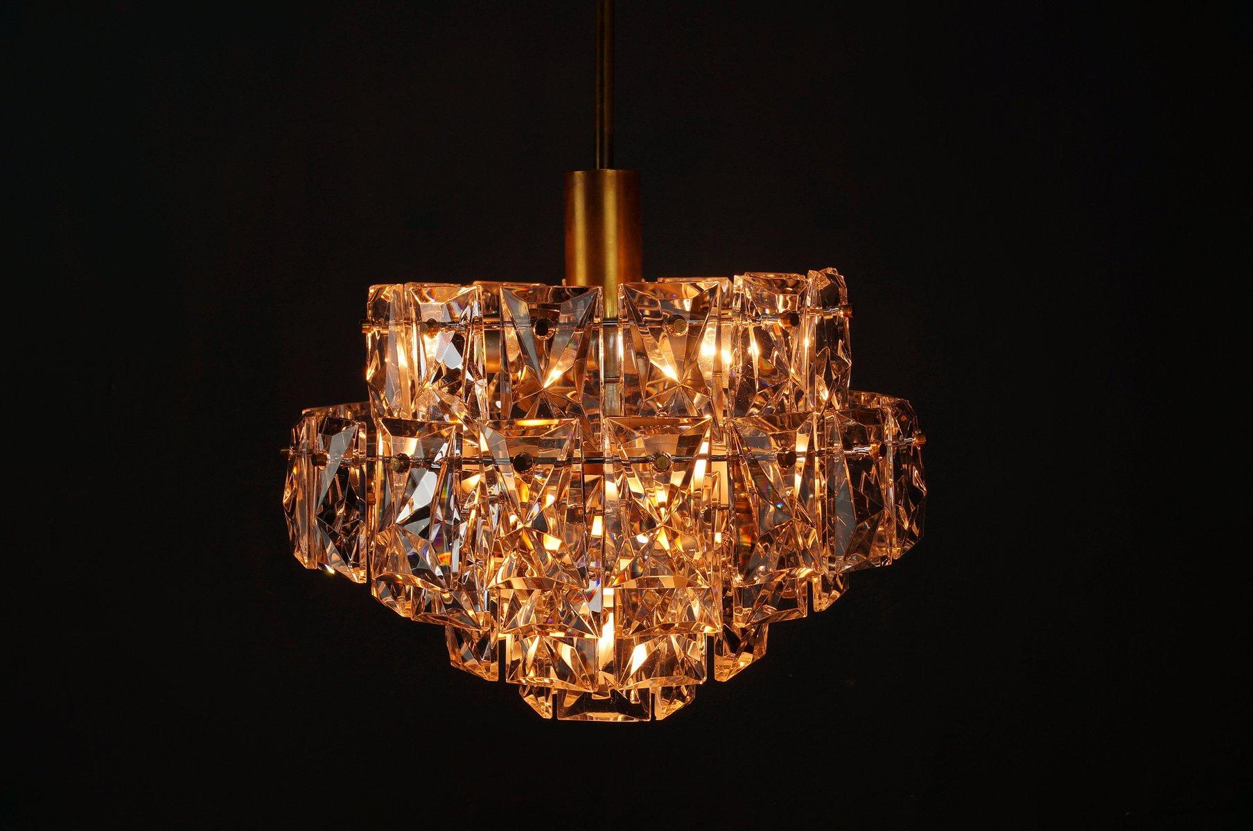 vintage kristall kronleuchter mit 5 ebenen von kinkeldey bei pamono kaufen. Black Bedroom Furniture Sets. Home Design Ideas