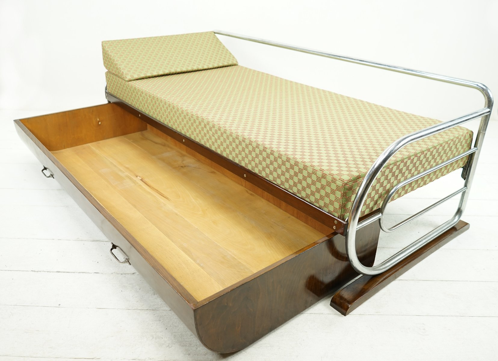 Bauhaus daybed sofa with bed drawer from gottwald for sale at pamono Daybed sofa couch