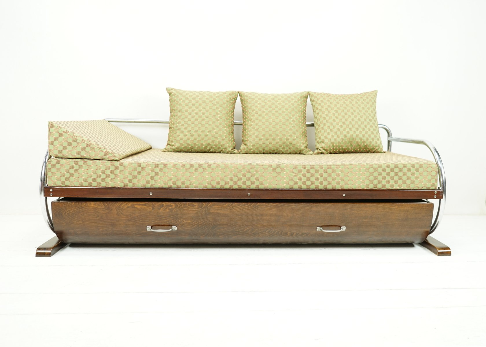 Bauhaus daybed sofa with bed drawer from gottwald for sale for Sofa bed germany