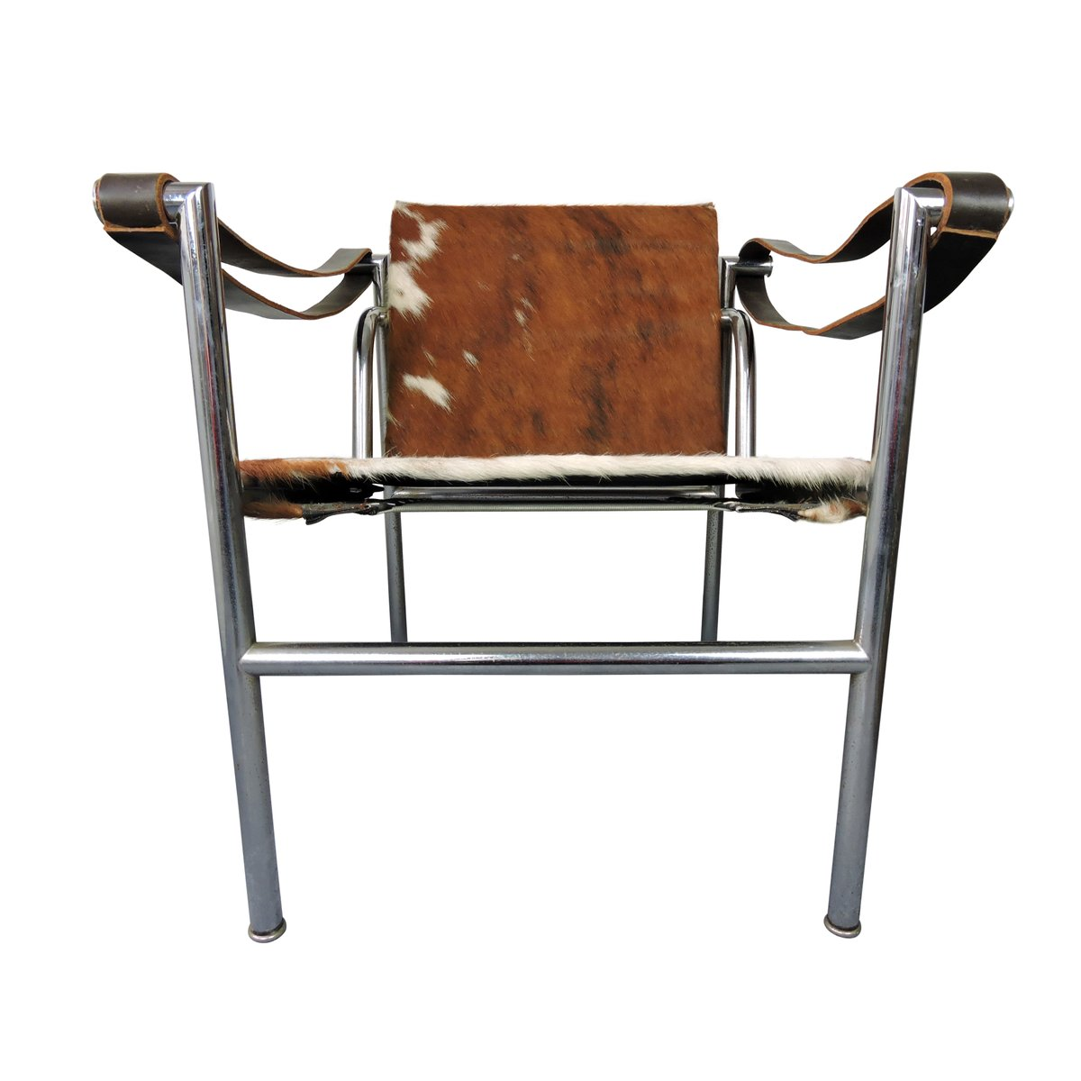 Mid Century Italian Cowhide Chair By Le Corbusier For